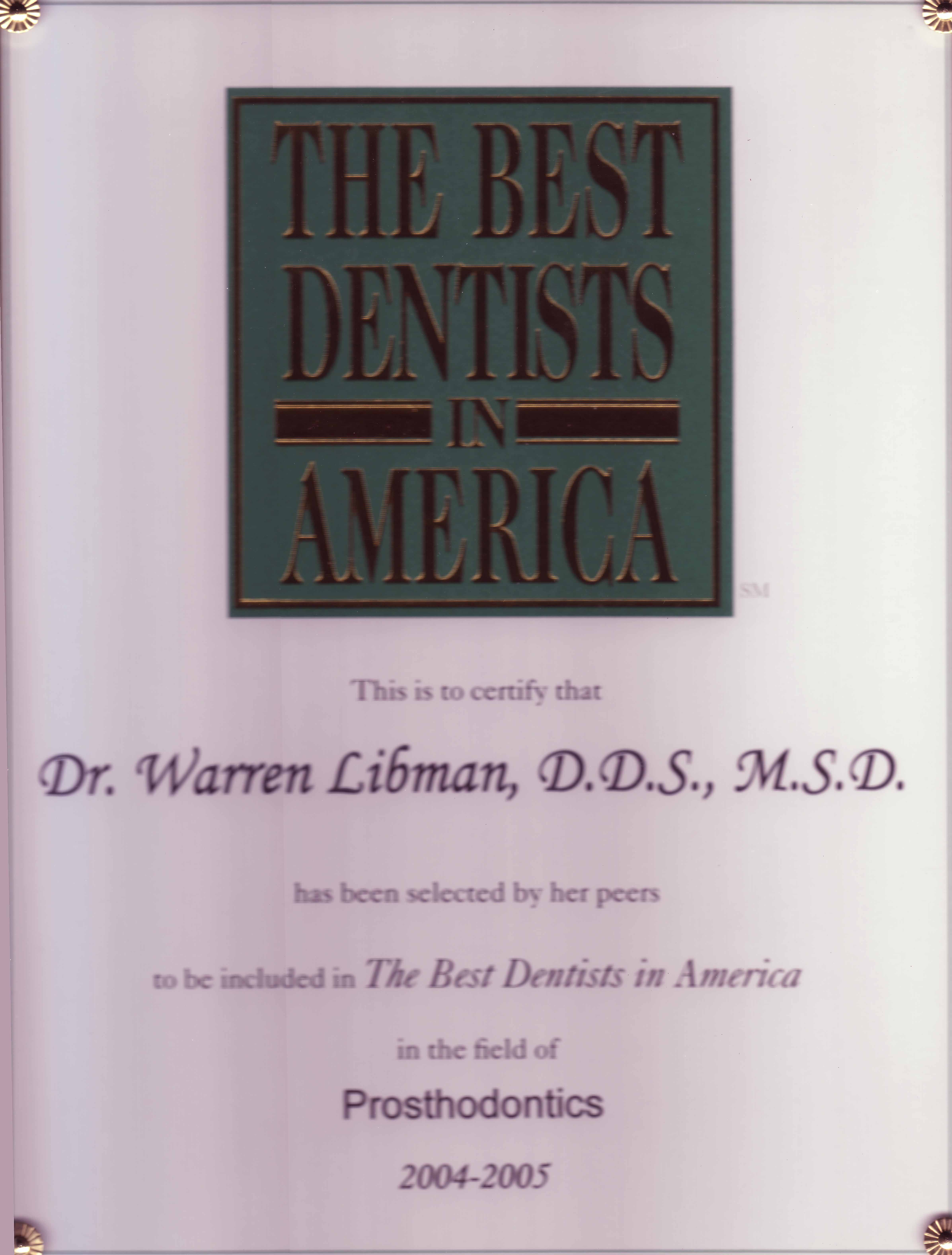 The Best Dentists in America 2004-2005