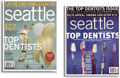 """Top Dentist"" issue of Seattle Magazine and Seattle Metropolitan Magazine"